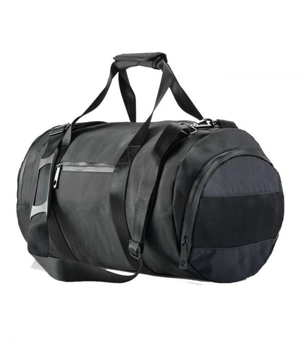 Black Custom Gym Bag Manufacturer