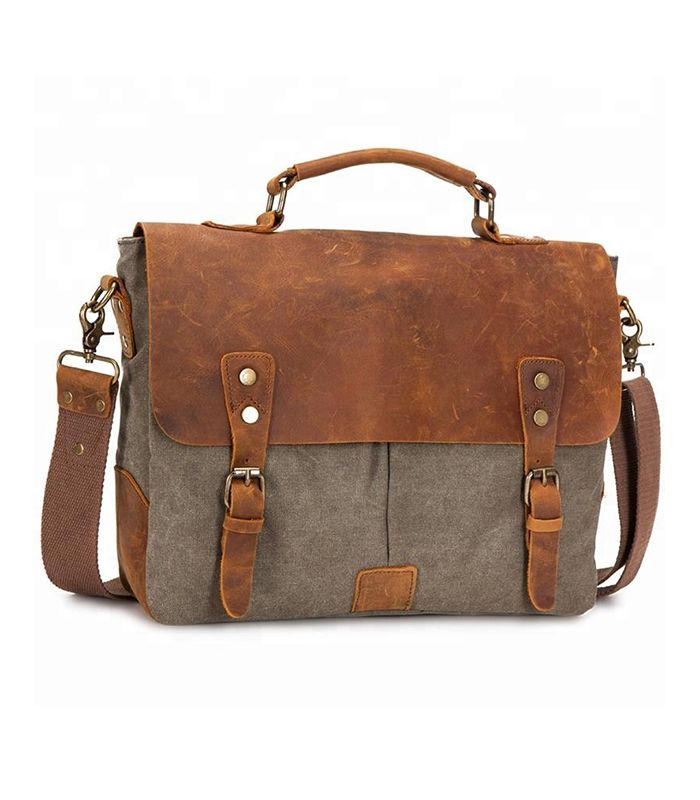 Wholesale Custom Laptop Canvas Shoulder Messenger Bag