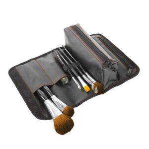 Wholesale Luxury Black PU Leather Cosmetic Bag