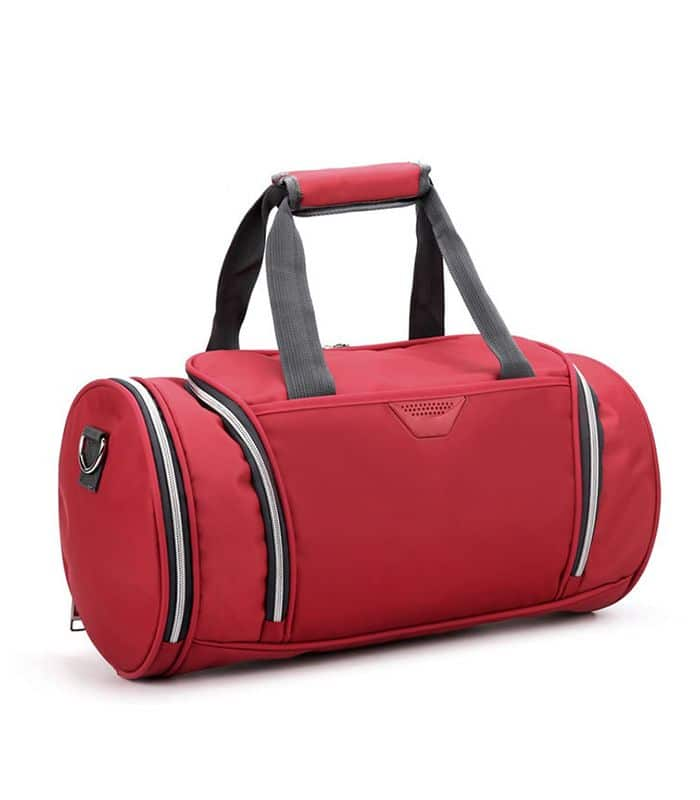 Red Colored Gym Bag Manufacturer
