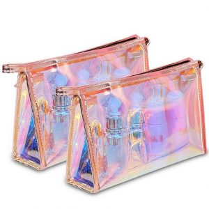 bulk waterproof holographic makeup cosmetic bag
