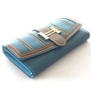 blue and light chocolate clutch wholesale purse