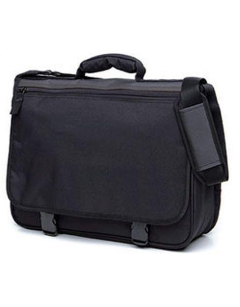 wholesale plain black sturdy laptop bag