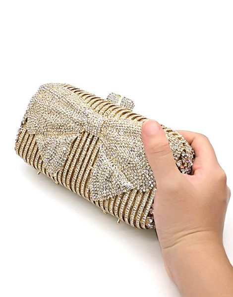 wholesale polyester crystal ladies clutches