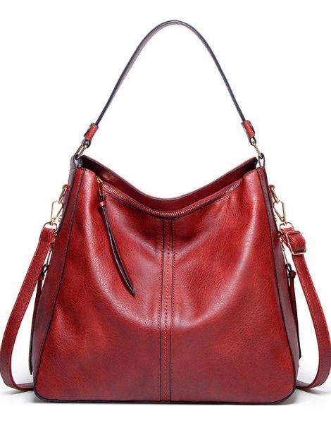 custom pu leather ladies satchel handbags