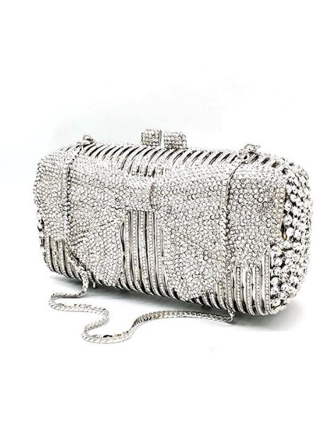 wholesale polyester crystal ladies clutches manufacturers