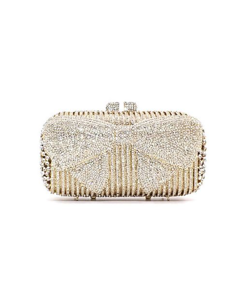 bulk polyester crystal ladies clutches